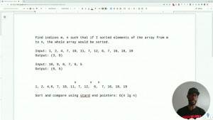 Screenshot of coding interview video on YouTube